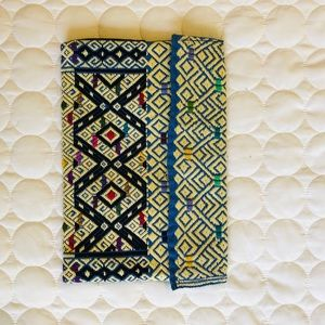Handmade Multicolored Embroidered Clutch